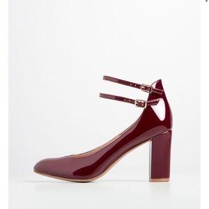 Chelsea Crew ModCloth burgundy heels